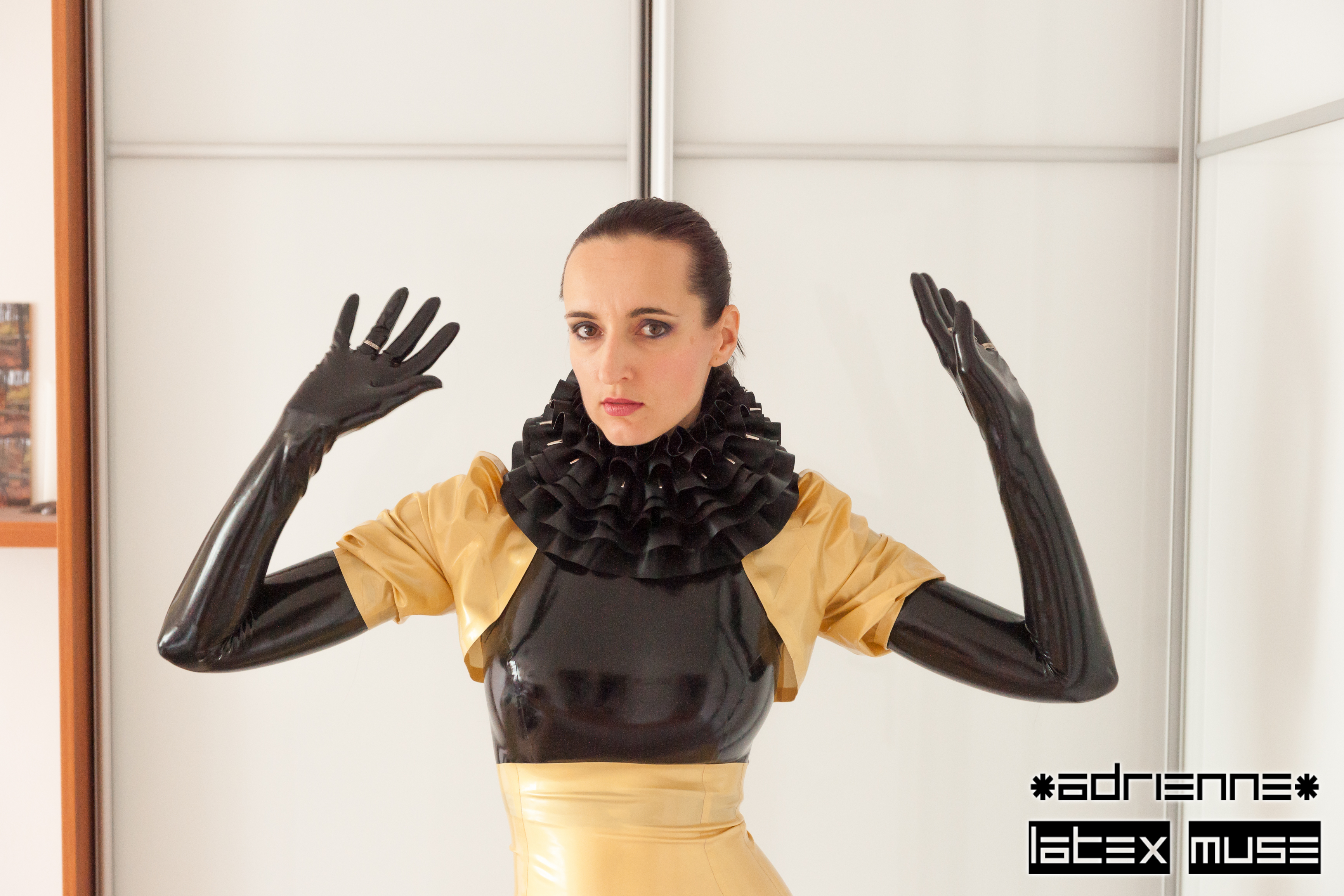 2016 - Gold latex gown